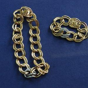 Ciner Bracelet and Earring Set